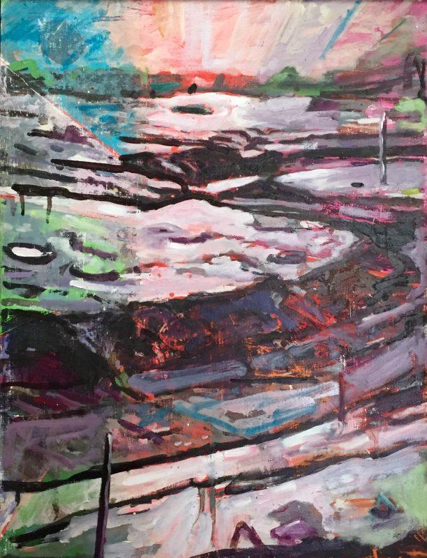 Keenleyside, Simon 'Save the last dance', 2009-20 Oil on wooden panel 41x32cm