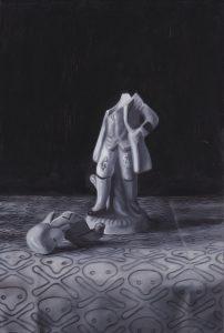Richard Moon | Aristocrat | 2015 | Oil on wood | 30x20cm