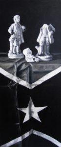 Richard Moon | Aristocrats | 2015 | Oil on linen | 60x25cm