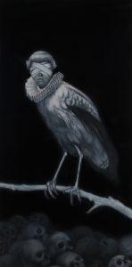 Richard Moon | Augur I | 2019 | Oil on linen | 60x30cm