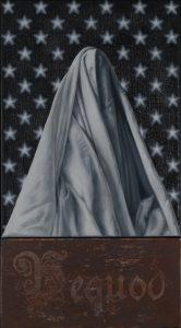 Richard Moon | Pequod | 2020 | Oil on linen & wood | 55x30cm