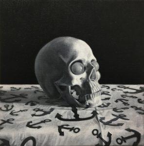 Richard Moon | Sailor's Skull | 2021 | Oil on linen | 35x35cm