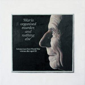 Hugh Mendes | Harry Patch 'War is…' | 2009 | Oil on linen | 30x30cm