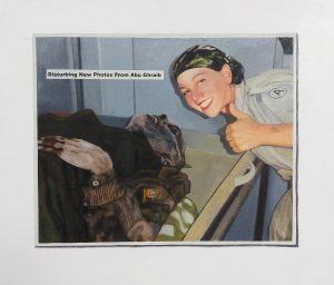 Hugh Mendes | Abu Ghraib (Disturbing New Photos) | 2011 | Oil on linen | 30x35cm