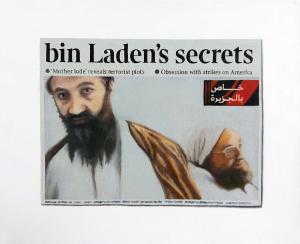 Hugh Mendes | Bin Laden's Secrets | 2011 | Oil on linen | 25x30cm