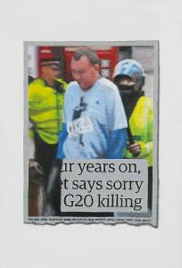 Hugh Mendes | G20 Killing | 2013 | Oil on linen | 30x20cm