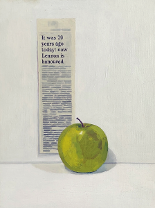 Hugh Mendes | It was 20 Years ago Today (Lennon Memorial) | 2001 | Oil on linen | 33x23cm