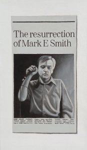 Hugh Mendes | Mark E Smith | 2006 | Oil on linen | 35x20cm