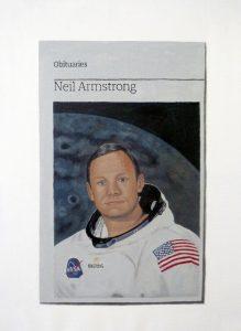 Hugh Mendes | Obituary: Neil Armstrong | 2012 | Oil on linen | 35x25cm