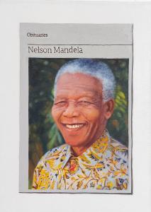 Hugh Mendes | Obituary: Nelson Mandela | 2014 | Oil on linen | 35x25cm