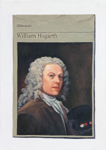 Hugh Mendes | Obituary: William Hogarth | 2018 | Oil on linen | 35x25cm