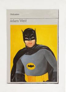 Hugh Mendes | Obituary: Adam West | 2017 | Oil on linen | 35x25cm