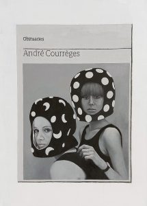 Hugh Mendes | Obituary: Andre Courreges | 2016 | Oil on linen | 35x25cm