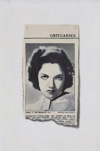 Hugh Mendes | Obituary: Anne Gwynne | 2003 | Oil on linen | 30x20cm