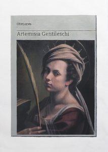 Hugh Mendes | Obituary: Artemisia Gentileschi | 2019 | Oil on linen | 35x25cm