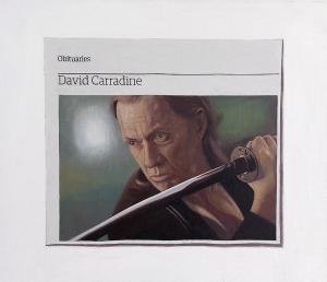 Hugh Mendes | Obituary: David Carradine | 2011 | Oil on linen | 30x35cm