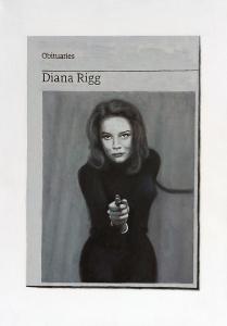 Hugh Mendes | Obituary: Diana Rigg | 2021 | Oil on linen | 35x25cm