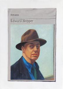 Hugh Mendes | Obituary: Edward Hopper | 2018 | Oil on linen | 35x25cm