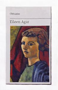Hugh Mendes | Obituary: Eileen Agar | 2021 | Oil on linen | 30x20cm