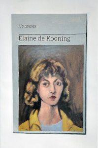 Hugh Mendes | Obituary: Elaine de Kooning | 2021 | Oil on linen | 30x20cm