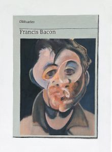 Hugh Mendes | Obituary: Francis Bacon | 2020 | Oil on linen | 35x25cm