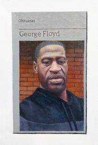 Hugh Mendes | Obituary: George Floyd | 2020 | Oil on linen | 30x20cm