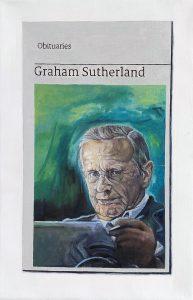 Hugh Mendes | Obituary: Graham Sutherland | 2020 | Oil on linen | 30x20cm