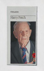 Hugh Mendes | Obituary: Harry Patch | 2009 | Oil on linen | 30x20cm