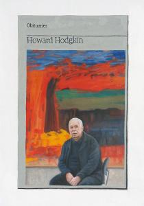 Hugh Mendes | Obituary: Howard Hodgkin | 2017 | Oil on linen | 35x25cm