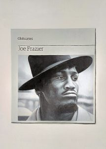 Hugh Mendes | Obituary: Joe Frazier | 2012 | Oil on linen | 35x25cm