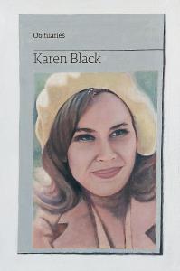 Hugh Mendes | Obituary: Karen Black | 2013 | Oil on linen | 30x20cm