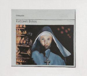 Hugh Mendes | Obituary: Kathleen Byron | 2009 | Oil on linen | 30x35cm