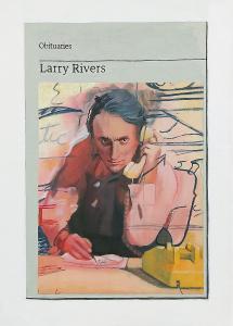 Hugh Mendes | Obituary: Larry Rivers | 2019 | Oil on linen | 35x25cm