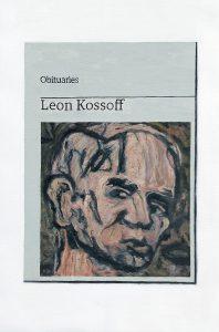 Hugh Mendes | Obituary: Leon Kossoff | 2020 | Oil on linen | 30x20cm