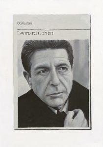 Hugh Mendes | Obituary: Leonard Cohen | 2016 | Oil on linen | 35x25cm
