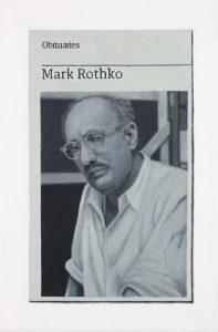 Hugh Mendes | Obituary: Mark Rothko | 2017 | Oil on linen | 30x20cm