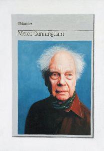 Hugh Mendes | Obituary: Merce Cunningham | 2011 | Oil on linen | 35x25cm