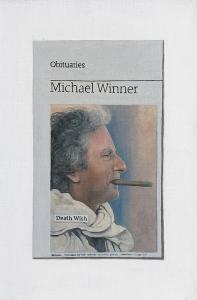 Hugh Mendes | Obituary: Michael Winner | 2013 | Oil on linen | 30x20cm