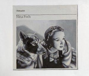 Hugh Mendes | Obituary: Nina Foch | 2009 | Oil on linen | 30x35cm