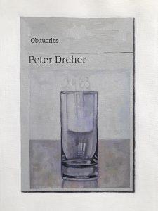 Hugh Mendes | Obituary: Peter Dreher | 2020 | Oil on linen | 30x20cm