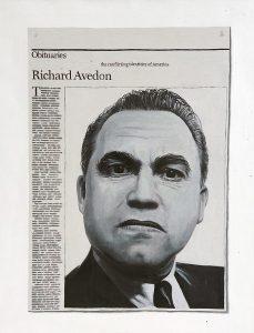 Hugh Mendes | Obituary: Richard Avedon | 2005 | Oil on linen | 45x35cm