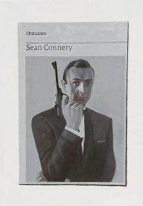 Hugh Mendes | Obituary: Sean Connery | 2021 | Oil on linen | 35x25cm