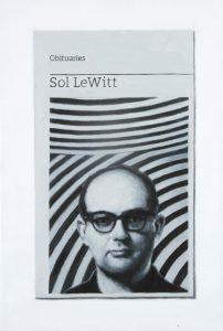 Hugh Mendes | Obituary: Sol Le Witt | 2015 | Oil on linen | 30x20cm