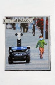 Mendes, Hugh 'The Real RoboCop', 2021 Oil on linen 30x20cm