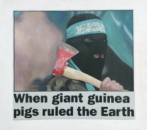Hugh Mendes | When giant guinea pigs ruled the earth | 2004 | Oil on linen | 45x50cm