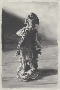 Richard Moon | The Dandy VI (monochrome version) | 2021 | Water soluble graphite on paper | 28.5x19cm